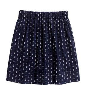 {j. crew} 🌿 anchors aweigh navy miniskirt