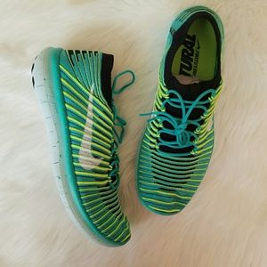 NWT NIKE Free Flyknit Neon Shoes!
