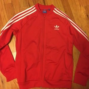 Adidas Jackets & Blazers - Red Track Suit Jacket