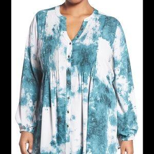 Melissa McCarthy Tops - Melissa McCarthy pin tuck blouse