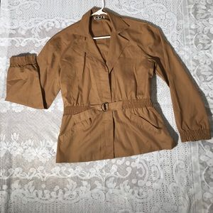 Vintage Jackets & Blazers - Vintage 80s Thin tan Jacket N.K.I Ned Gould