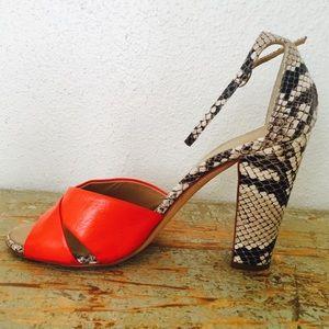 Barneys New York CO-OP Shoes - Barneys NY snakeskin sandals