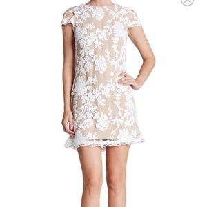 Dress the Population Dresses & Skirts - Embroidered Lace Mini Sheath Dress
