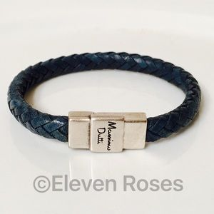 Mossimo Dutti Other - Mossimo Dutti Blue Woven Leather Magnetic Bracelet