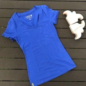 Lole Tops - LOLE 100% cotton blue tee shirt