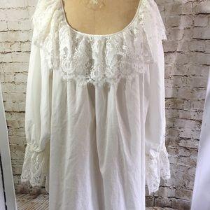 Lace & Cotton Night Shirt