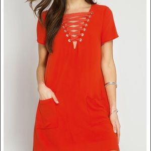 Last one! Lace Up Dress