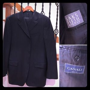 Canali Other - Canali 100% Wool Pinstripe Suit, 41R