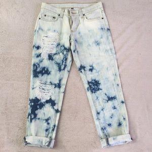 LF Denim - LF carmar acid/bleached boyfriend jeans