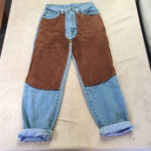LF Denim - LF suede boyfriend jeans