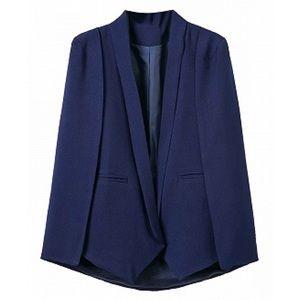 Jackets & Blazers - Navy Cape Blazer