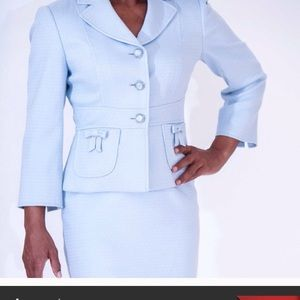 Jackets & Blazers - Beautiful silvery blue suit perfect for Spring