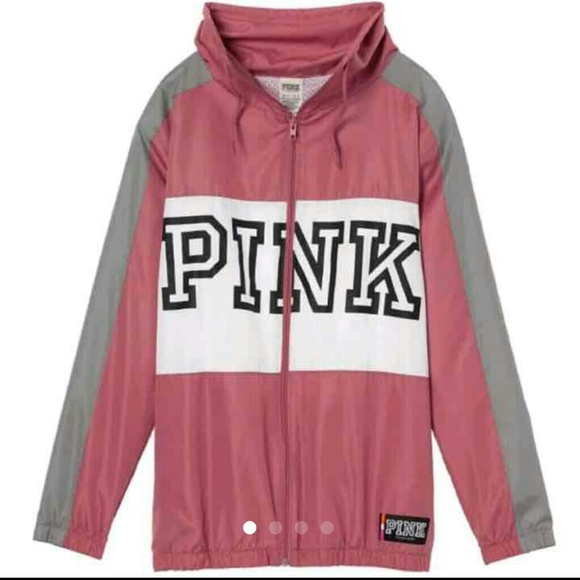1a45cd6d4ac67 Vs Pink funnel neck Anorak Jacket