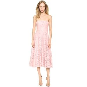 Dresses & Skirts - Pink Lace A-line Midi Dress