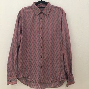 Bugatchi Other - Bugatchi Uomo Men's Striped Shirt size XL