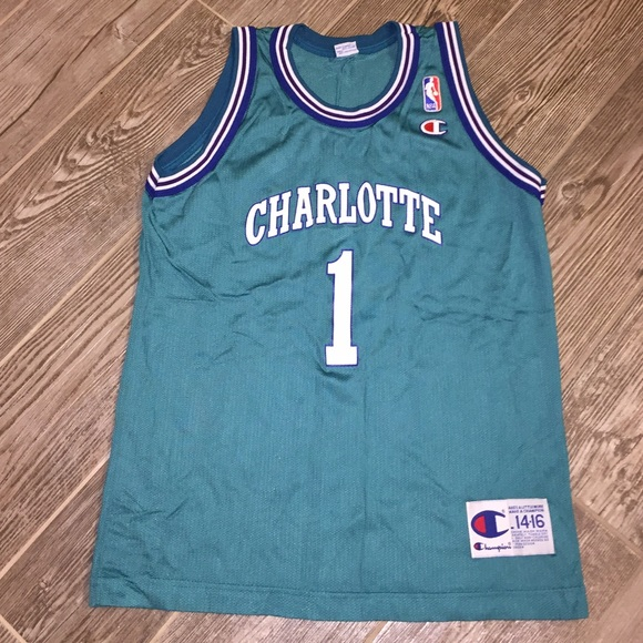 d97add4b9 Champion Other - Vtg Muggsy Bogues Charlotte Hornets NBA Jersey