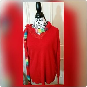 South Pole Sweaters - Red v-neck sweater