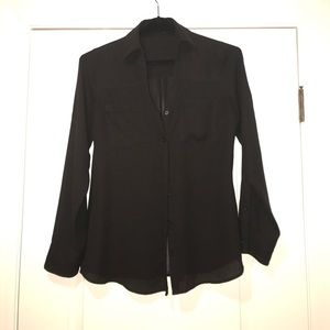Express Tops - Black Express button down