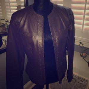 Spiegel Jackets & Blazers - Spiegel Leather Blazer