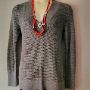 North Crest Sweaters - 🎉🎊V-Neck One Button Oversized Sweater