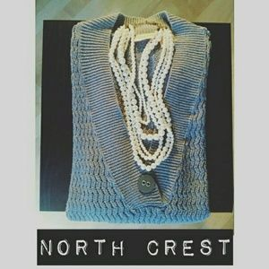 North Crest Sweaters - 🎉🎇V-Neck One Button Oversized Sweater