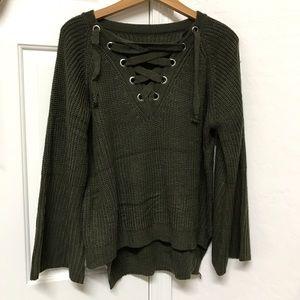 Sweaters - Bell sleeve sweater