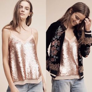 Anthropologie Tops - Anthropologie Sequined Camo