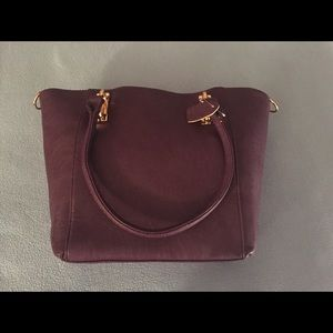 Leather Shoulder Bag/Crossbody Purse Plum/Purple