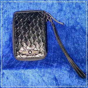 Elliott Lucca Handbags - Elliot Lucca Woven Leather Wristlet Wallet