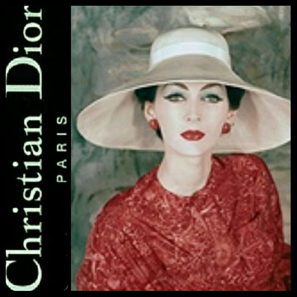 5b8e4d42f69 Dior Accessories - Christian Dior Leather Wide Brim Hat