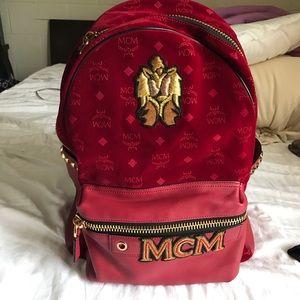 MCM Handbags - STARK VELVET INSIGNIA BACKPACK