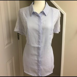 Simply Be Tops - NWT Lavender & Lace Blouse by Simply Be Size 18