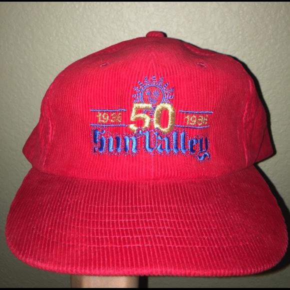 Red Corduroy Vintage Old School Snapback Hat 6add70fa7e5f