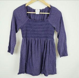 Motherhood Tops - Light Purple 3/4 Sleeve Maternity Shirt