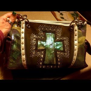Rock & Roll Cowgirl Handbags - Beautiful  cowgirl bling concealed weapons purse