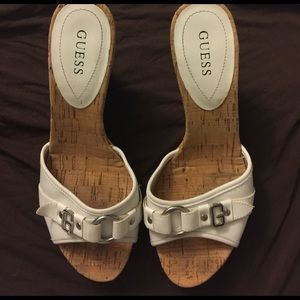 Guess Shoes - Guess corkscrew wedges
