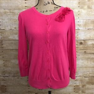 Old Navy Sweaters - Pink Flower Accent Cardigan