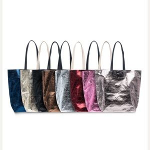 NWT Sorial Tote in Metallic Pewter
