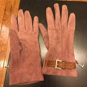 Les Copains Accessories - Beautiful suede cashmere lined Les Copains gloves