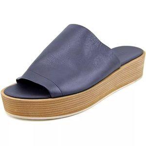 New Vince leather Navy slides