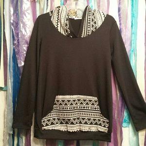 Mon Ami boutique Aztec print hoodie