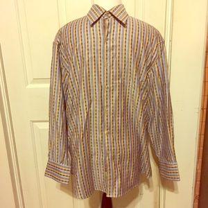 Robert Graham Men's Long Sleeve Striped Shirt XL