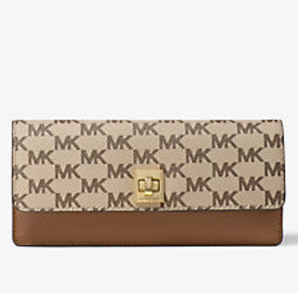 f0ff071d6452 Brand NWT MK Natalie Heritage Signature Wallet