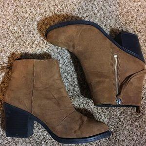 Brown H&m suede booties