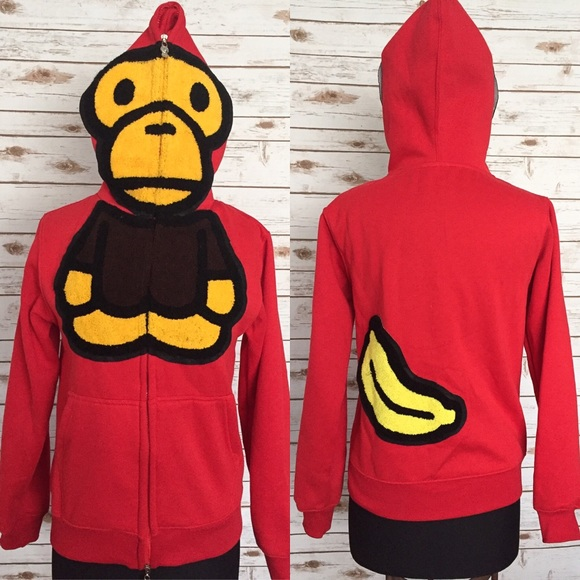 67b9390886d4 A Bathing Ape Other - A BATHING APE BAPE Baby Milo Red Hoodie Streetwear