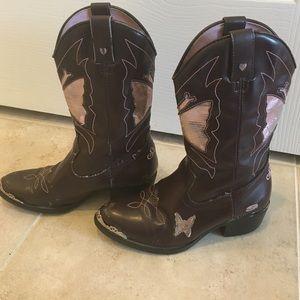 081c3c4545c Brown & Pink Skechers Cowboy Boots
