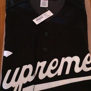 Supreme SS17 Satin Baseball Jersey