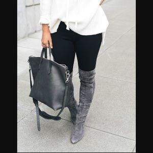 40% off Cole Haan Shoes - Cole Haan marina OTK boots 5.5 grey ...