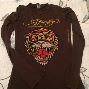 Ed Hardy Tops - ED Hardy Tiger Shirt