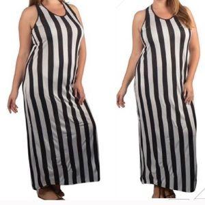 Dresses & Skirts - Racer back stripes maxi dress